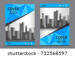 blue color scheme with city... | Shutterstock .eps vector #732568597