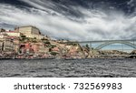 the dom lu s i bridge is a... | Shutterstock . vector #732569983