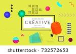 minimal universal banner...   Shutterstock .eps vector #732572653