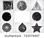 grunge post stamps collection ...   Shutterstock .eps vector #732574447