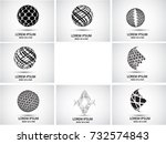 vector set of logo design   Shutterstock .eps vector #732574843