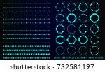 hud futuristic user interface... | Shutterstock .eps vector #732581197