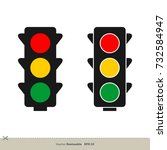 traffic light vector template | Shutterstock .eps vector #732584947