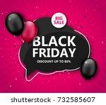 black friday sale  shopping... | Shutterstock .eps vector #732585607