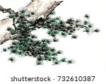 chinese traditional... | Shutterstock . vector #732610387