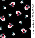 cute ditsy flower print  ... | Shutterstock .eps vector #732625843