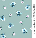 little ditsy flower print  ... | Shutterstock .eps vector #732626407