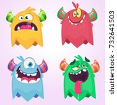 Cartoon Monsters Set For...