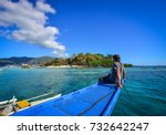 a man enjoying holidays at... | Shutterstock . vector #732642247