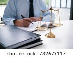 legal counsel presents to the... | Shutterstock . vector #732679117