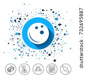 button on circles background.... | Shutterstock .eps vector #732695887