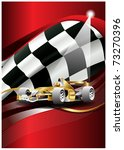 flag vector and car of one... | Shutterstock .eps vector #73270396