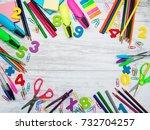 back to school concept   school ... | Shutterstock . vector #732704257