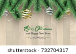 merry christmas and happy new... | Shutterstock .eps vector #732704317