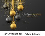 christmas greeting card  design ... | Shutterstock .eps vector #732712123