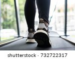young woman execute exercise in ... | Shutterstock . vector #732722317