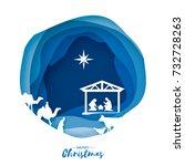 Birth Of Christ. Baby Jesus In...