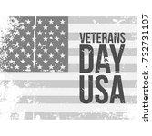 veterans day usa grunge flag...   Shutterstock .eps vector #732731107
