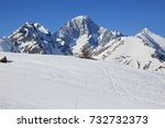 mountains covered with snow ...   Shutterstock . vector #732732373