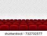 empty movie theater auditorium... | Shutterstock .eps vector #732732577