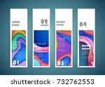 vector vertical banner design | Shutterstock .eps vector #732762553