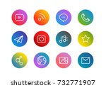 trendy app linear icons vector...
