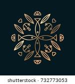 vector graphic  line art... | Shutterstock .eps vector #732773053