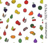 seamless pattern texture fabric ... | Shutterstock .eps vector #732779173