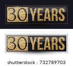 30 years anniversary gold...   Shutterstock .eps vector #732789703