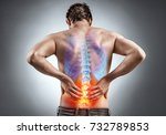Lower back pain. man holding...