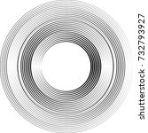 lines in circle form . vector... | Shutterstock .eps vector #732793927