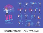 vr female user ready to use... | Shutterstock .eps vector #732796663