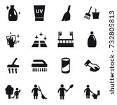 16 vector icon set   cleanser ... | Shutterstock .eps vector #732805813