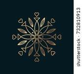 vector graphic  elegant line... | Shutterstock .eps vector #732810913