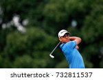 Small photo of KUALA LUMPUR, MALAYSIA - OCTOBER 12, 2017. Golfer, Xander Schauffele from United States in action during the first round of 2017 CIMB Classic at TPC Kuala Lumpur.