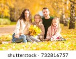young family with cute little...   Shutterstock . vector #732816757
