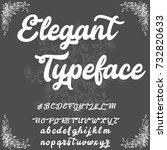 vector set of handwritten abc... | Shutterstock .eps vector #732820633