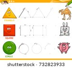 educational cartoon vector... | Shutterstock .eps vector #732823933