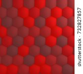 Red Abstract Hexagonal...