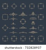 retro rosette and victorian... | Shutterstock .eps vector #732828937