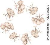 flowers. peonies..decorative... | Shutterstock . vector #732830377