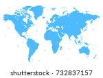 world map | Shutterstock .eps vector #732837157