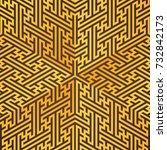 gold metal triangle design... | Shutterstock . vector #732842173