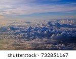 blue sky white cloud background ... | Shutterstock . vector #732851167