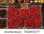 sicilian green and red tomatoes ... | Shutterstock . vector #732855277