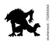 werewolf silhouette ancient... | Shutterstock .eps vector #732856063