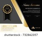 diploma certificate template... | Shutterstock .eps vector #732862357
