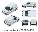 small van car. isolated... | Shutterstock . vector #732864457