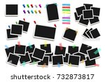 set of realistic square frames  ... | Shutterstock . vector #732873817