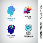 vector set of creative mind ... | Shutterstock .eps vector #732874957
